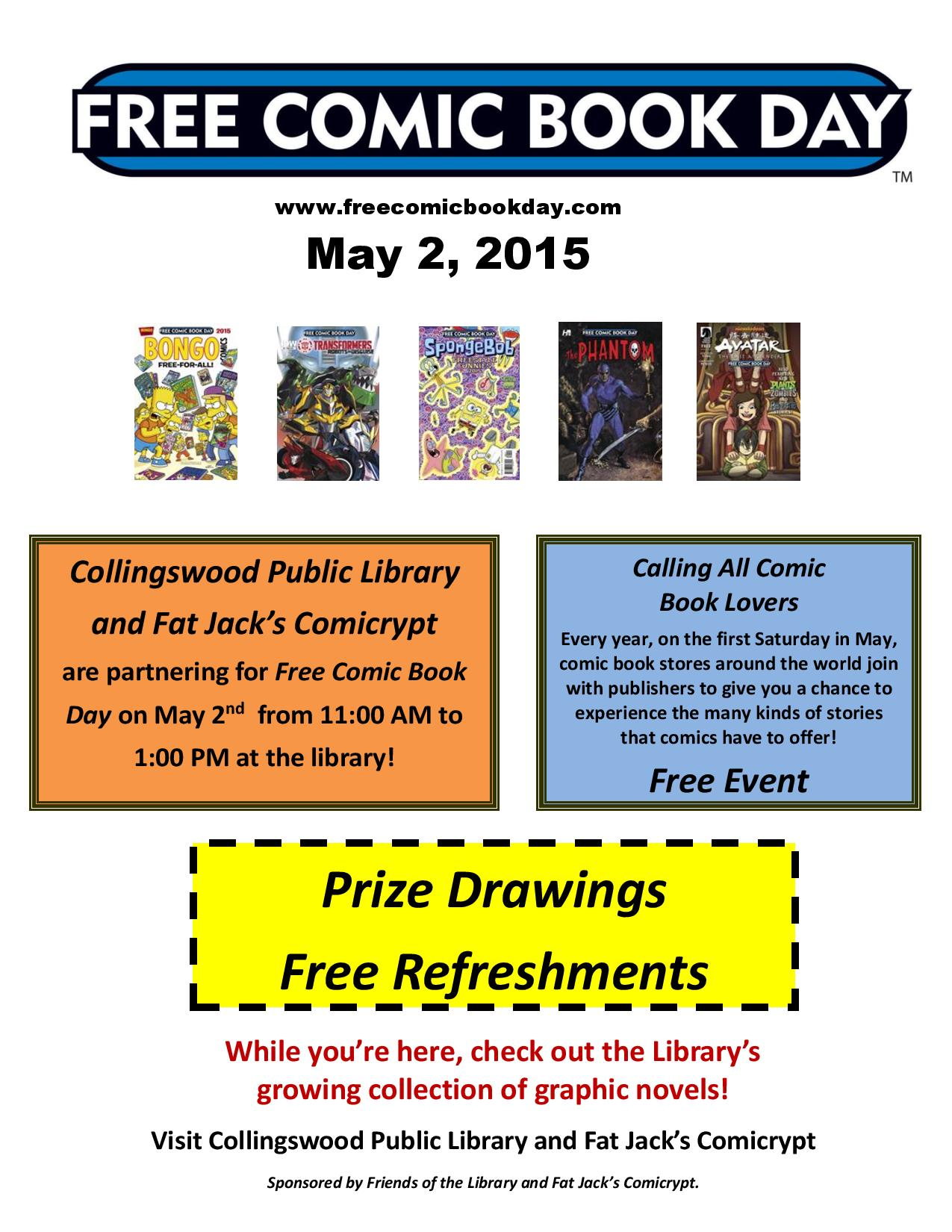 Free comic book day libraries