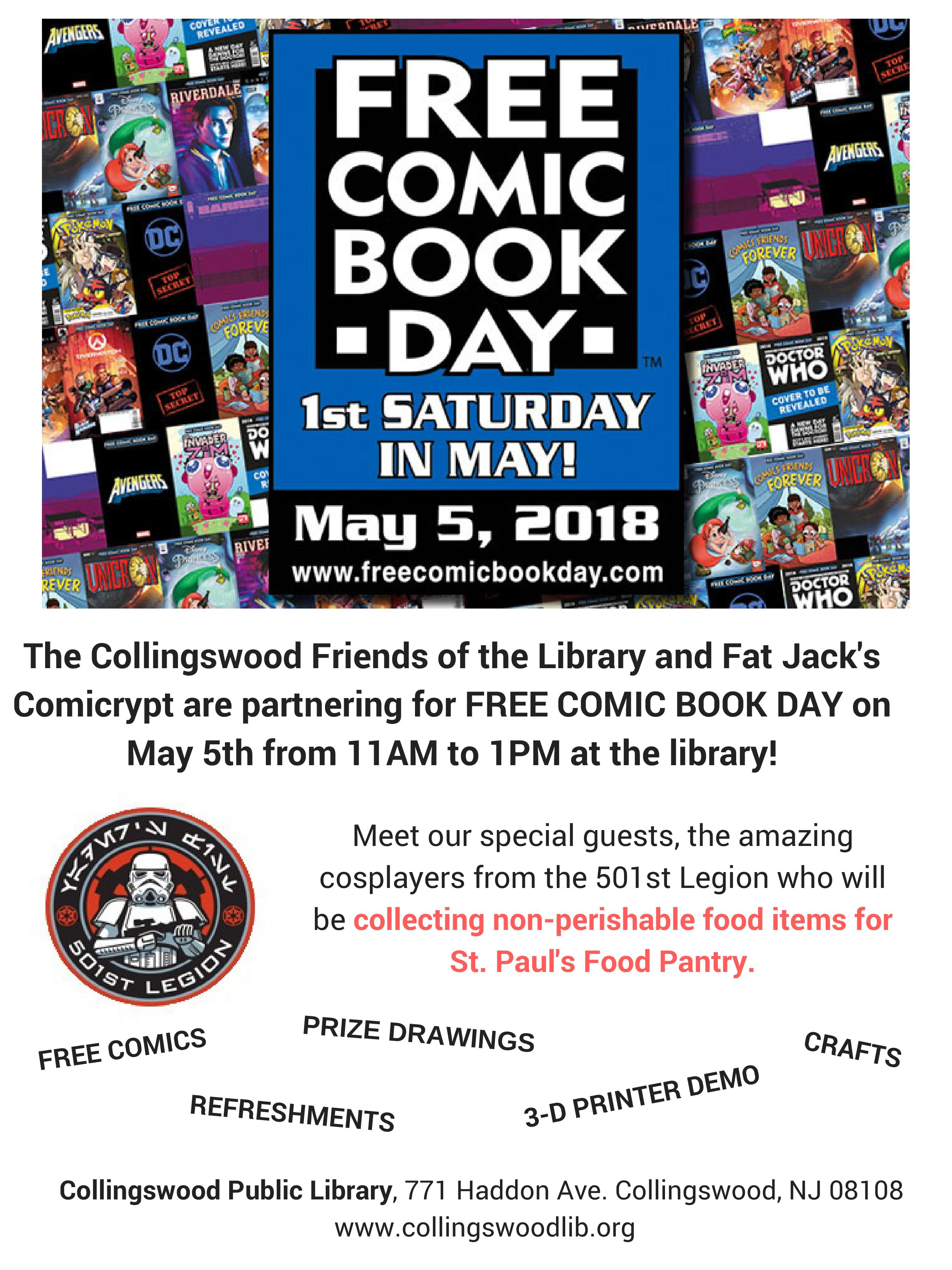 Free Comic Book Day | Collingswood Public Library